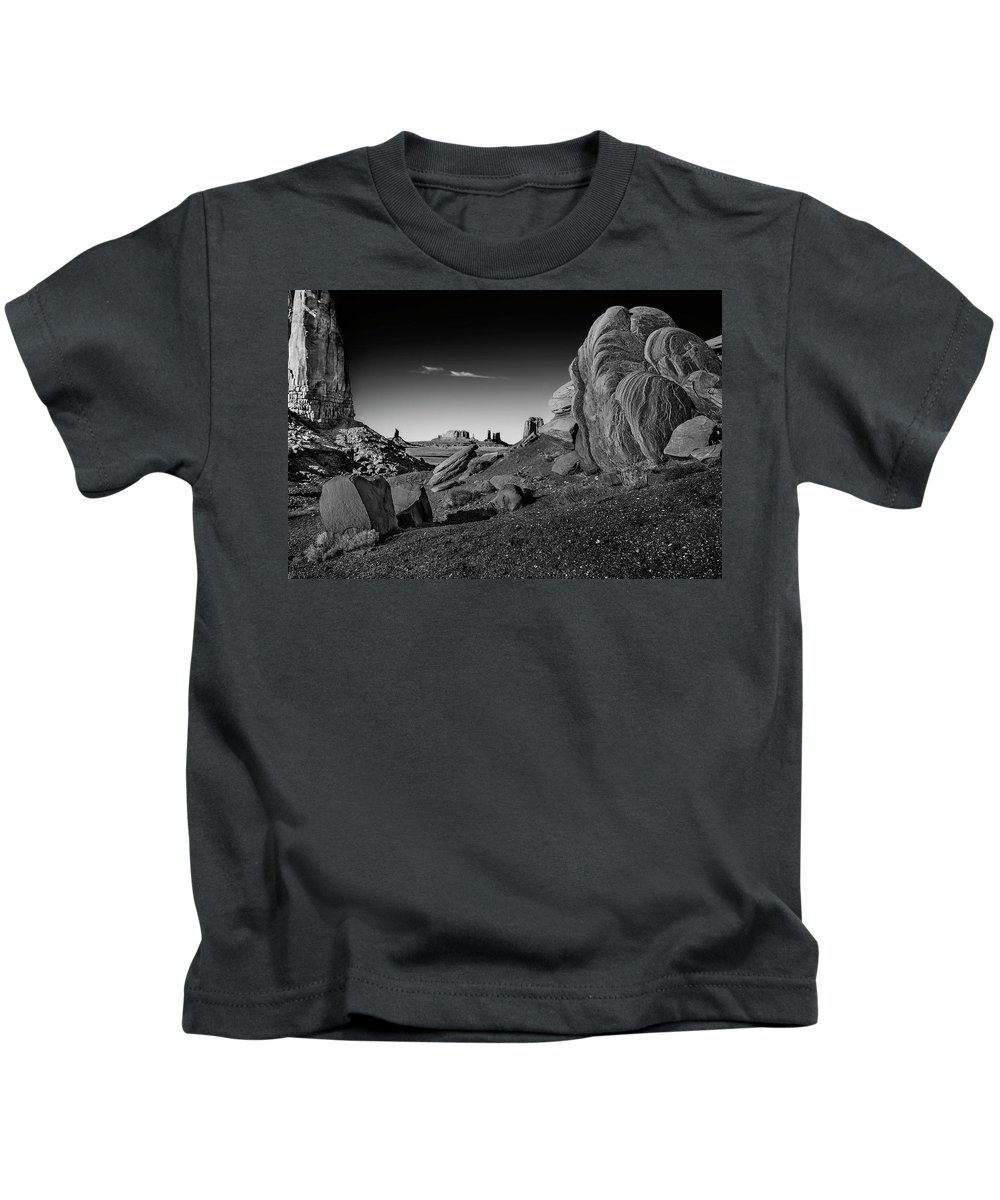 Utah Kids T-Shirt featuring the photograph Monument Valley Rock Formations by Phil Cardamone