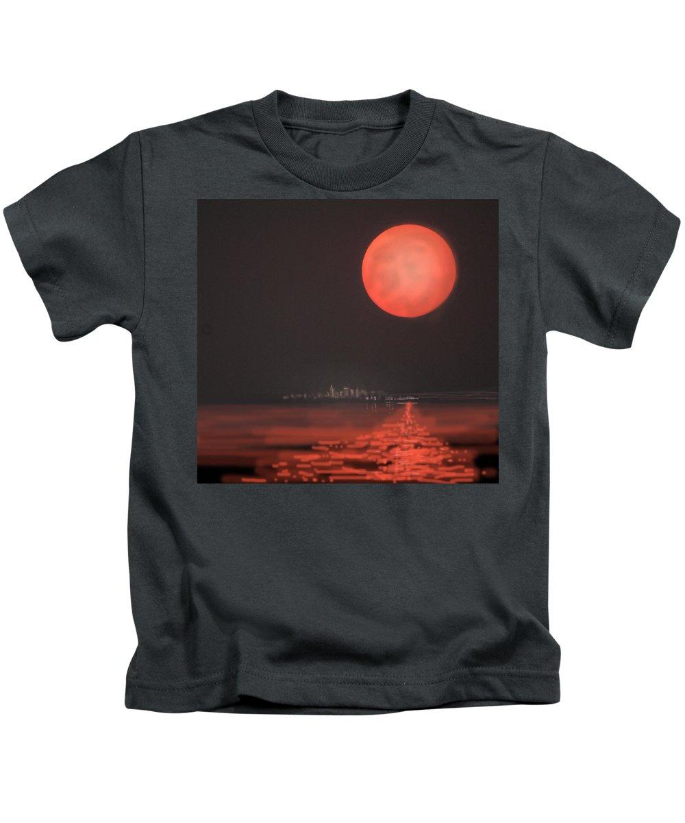 Moon Kids T-Shirt featuring the digital art Moon Escape by Heather Coen