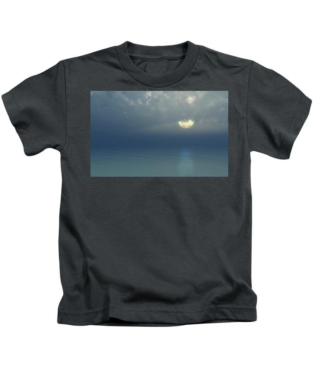 Moon Kids T-Shirt featuring the digital art Moonlight Serenade by Georgiana Romanovna