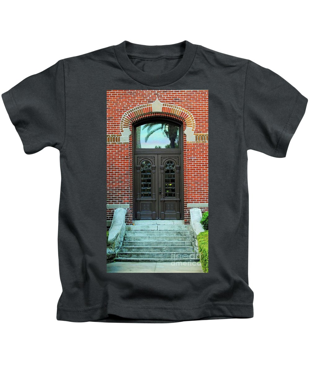 University Of Tampa Kids T-Shirt featuring the photograph Moorish Door by Jost Houk