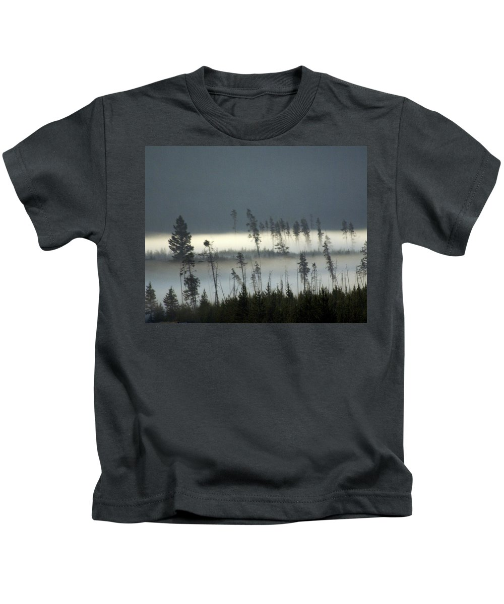Yellowstone National Park Kids T-Shirt featuring the photograph Morning Along The Madison by Marty Koch