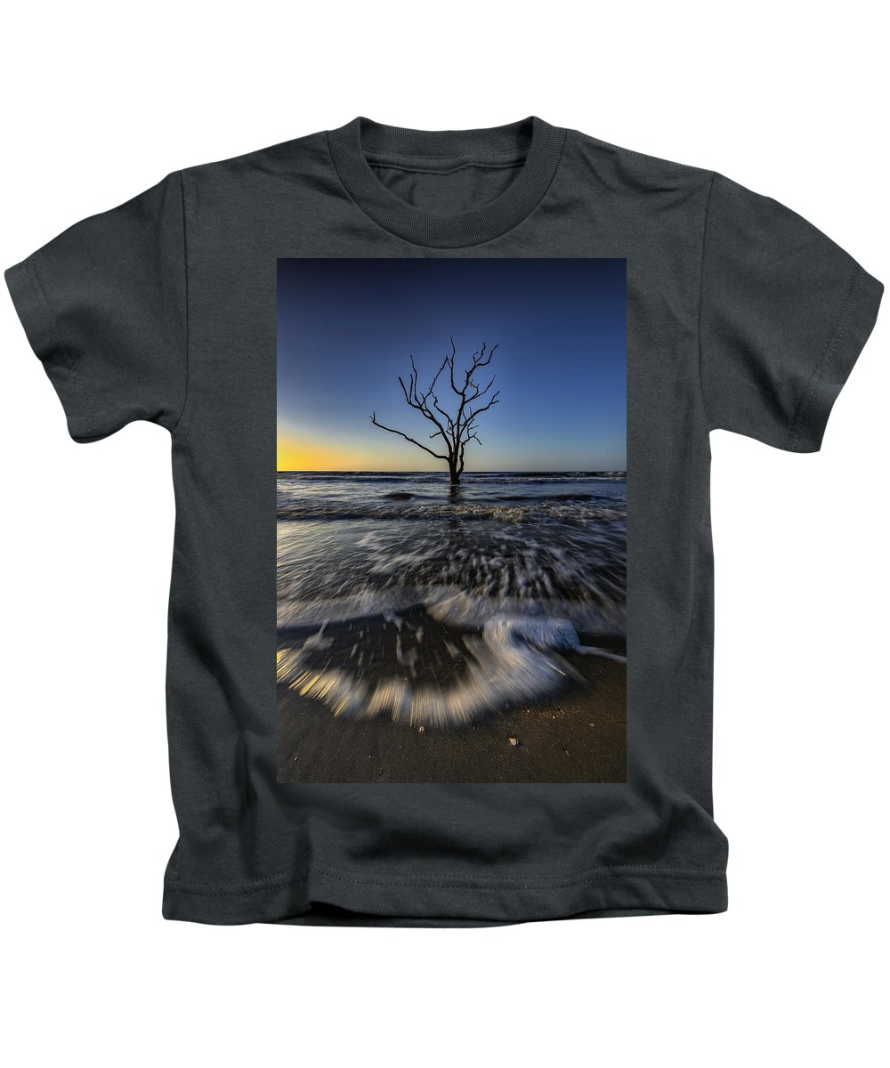 Sunrise Kids T-Shirt featuring the photograph Morning At Botany Bay Plantation by Rick Berk