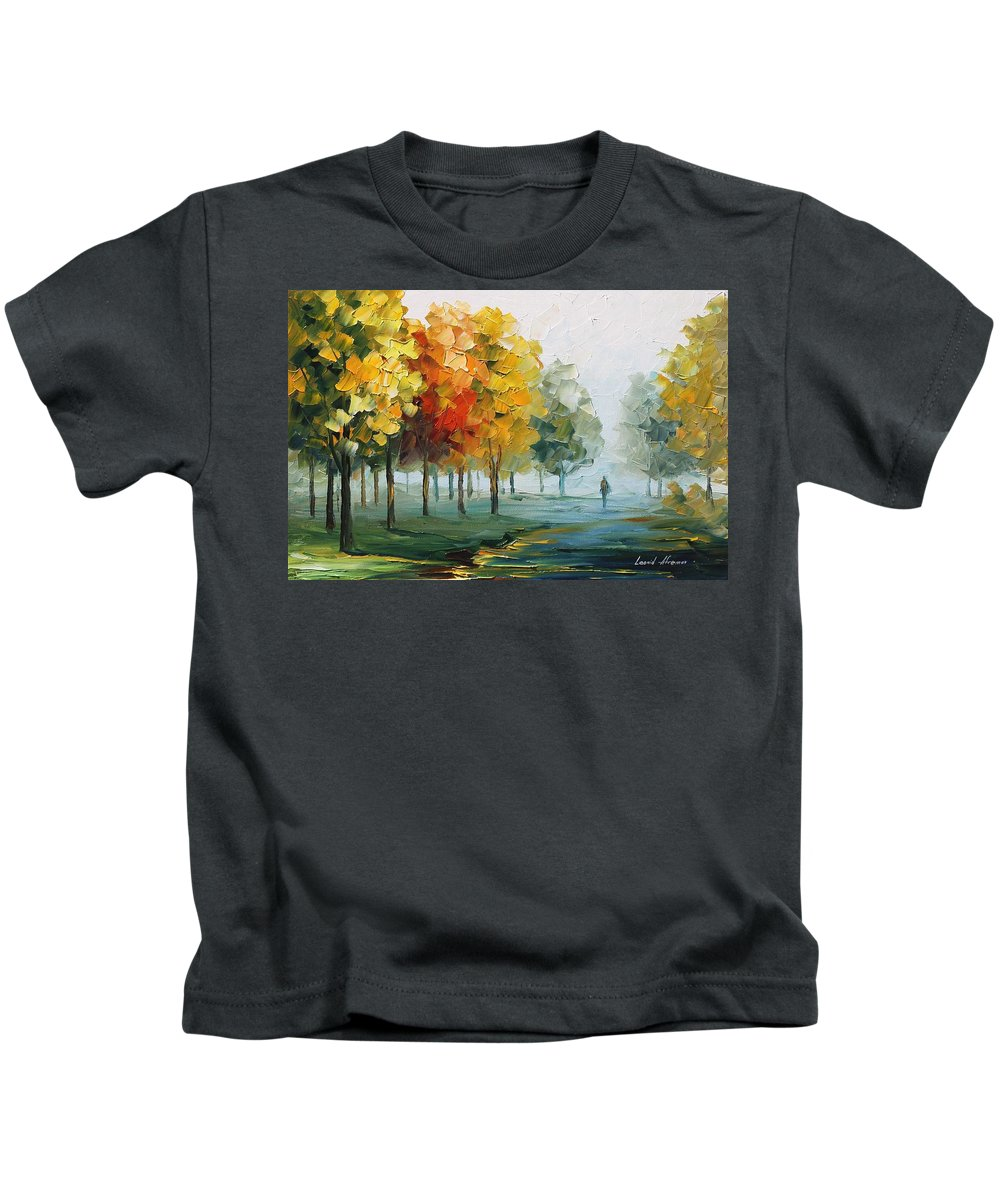 Afremov Kids T-Shirt featuring the painting Morning Breeze by Leonid Afremov