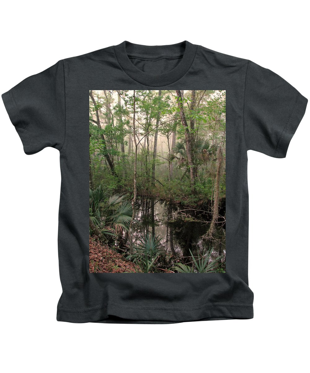 Nature Kids T-Shirt featuring the photograph Morning Comes Softly by Peg Urban