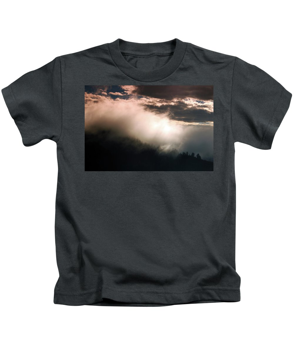 Canyon Kids T-Shirt featuring the photograph Morning Fog 2 by Samantha Burrow
