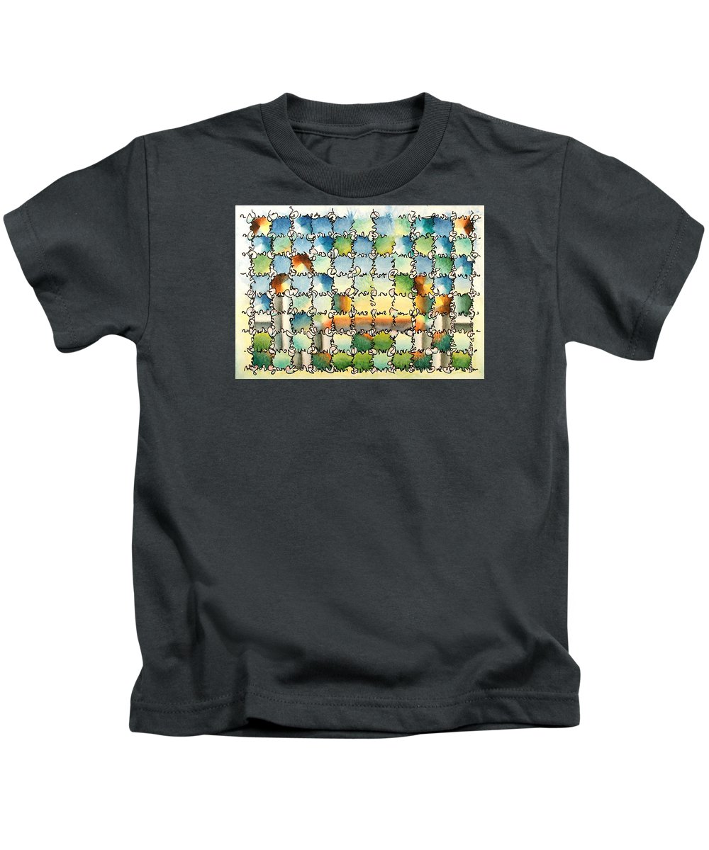 Watercolor Kids T-Shirt featuring the painting Morning Gateway by Dave Martsolf