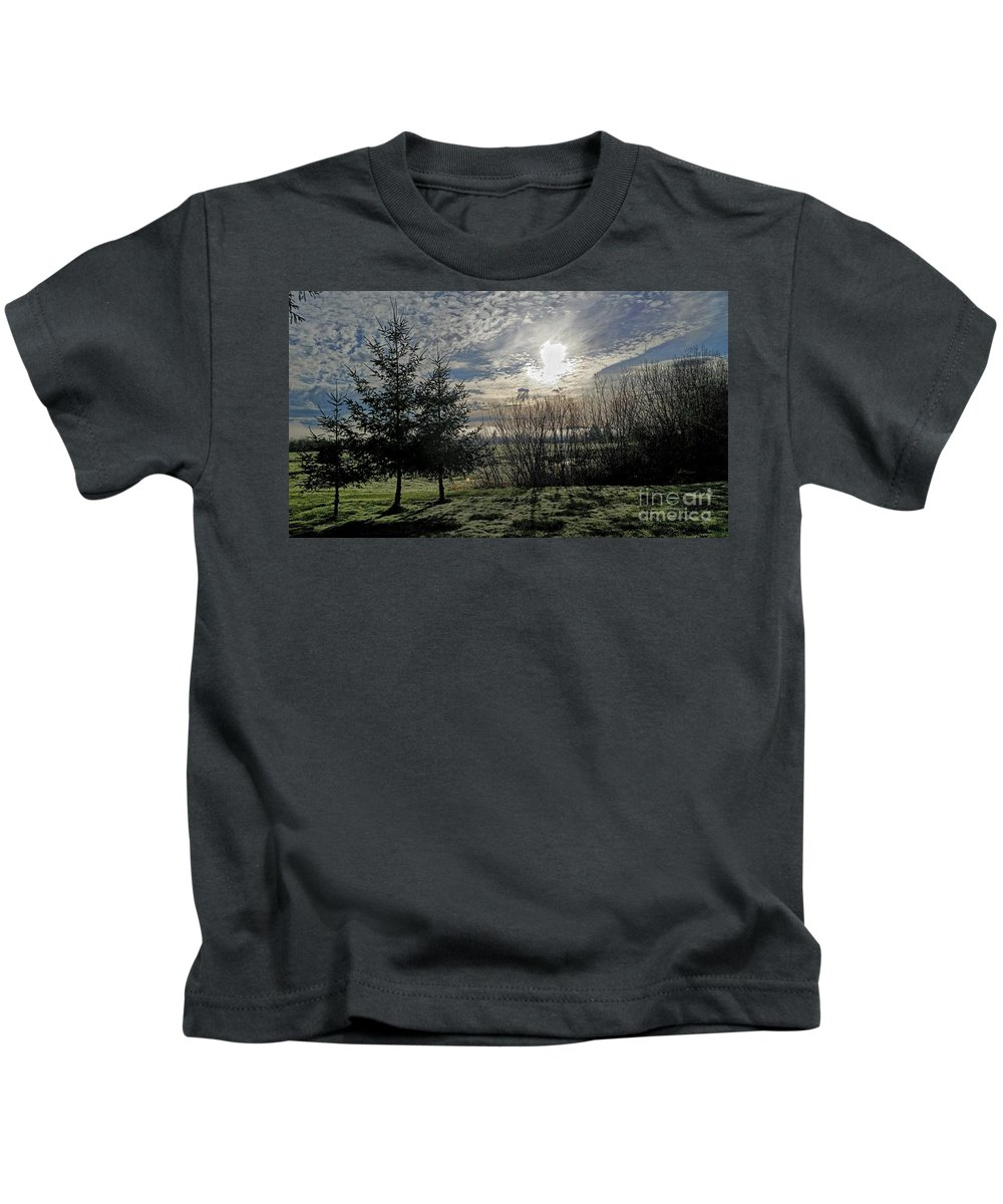 Landscape Kids T-Shirt featuring the photograph Morning Is Coming by Jane Powell