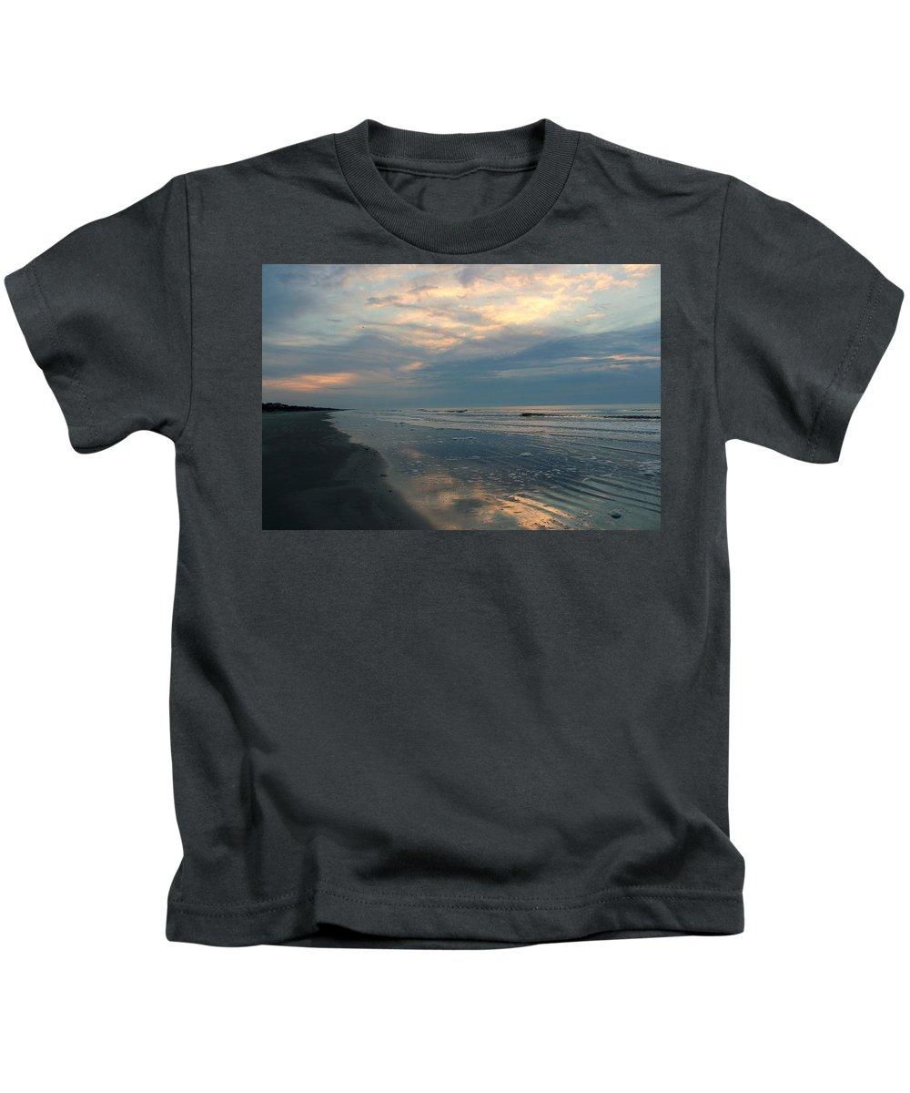 Beach Kids T-Shirt featuring the photograph Morning On The Beach by Rosanne Jordan