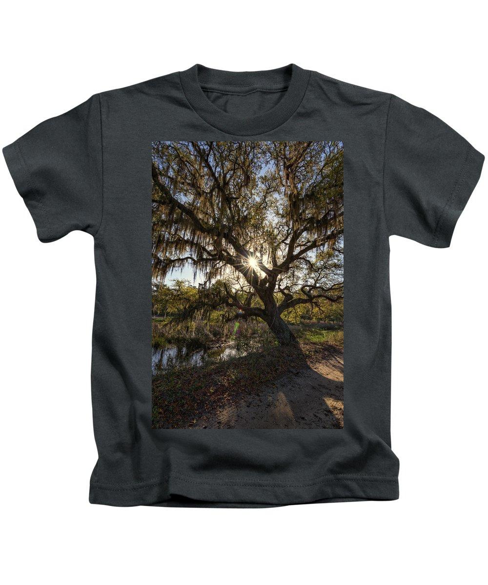 Oak Tree Kids T-Shirt featuring the photograph Morning Sun Through The Oak by Rick Berk