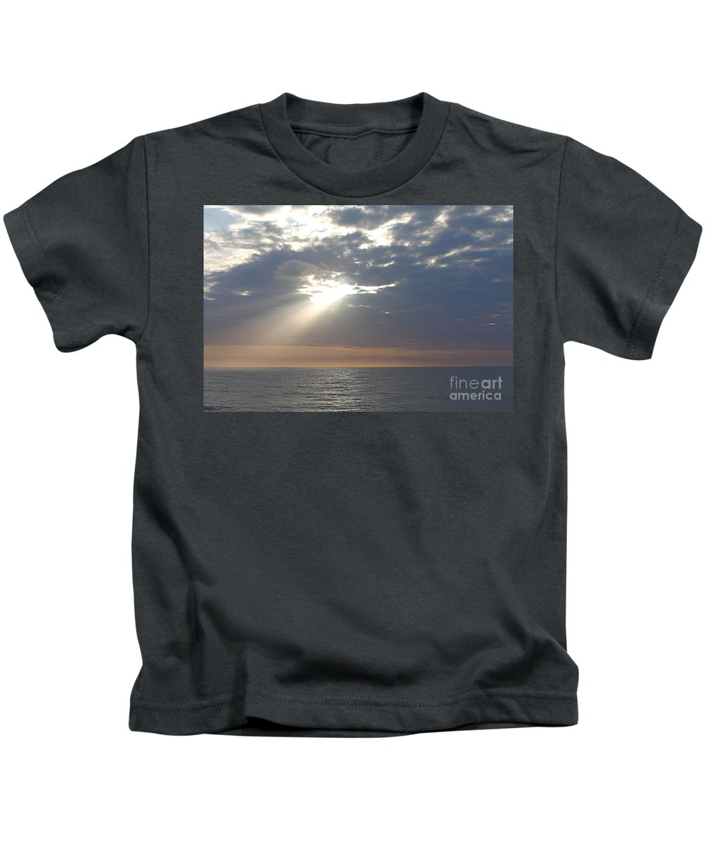 Sky Kids T-Shirt featuring the photograph Morning Sunburst by Nadine Rippelmeyer