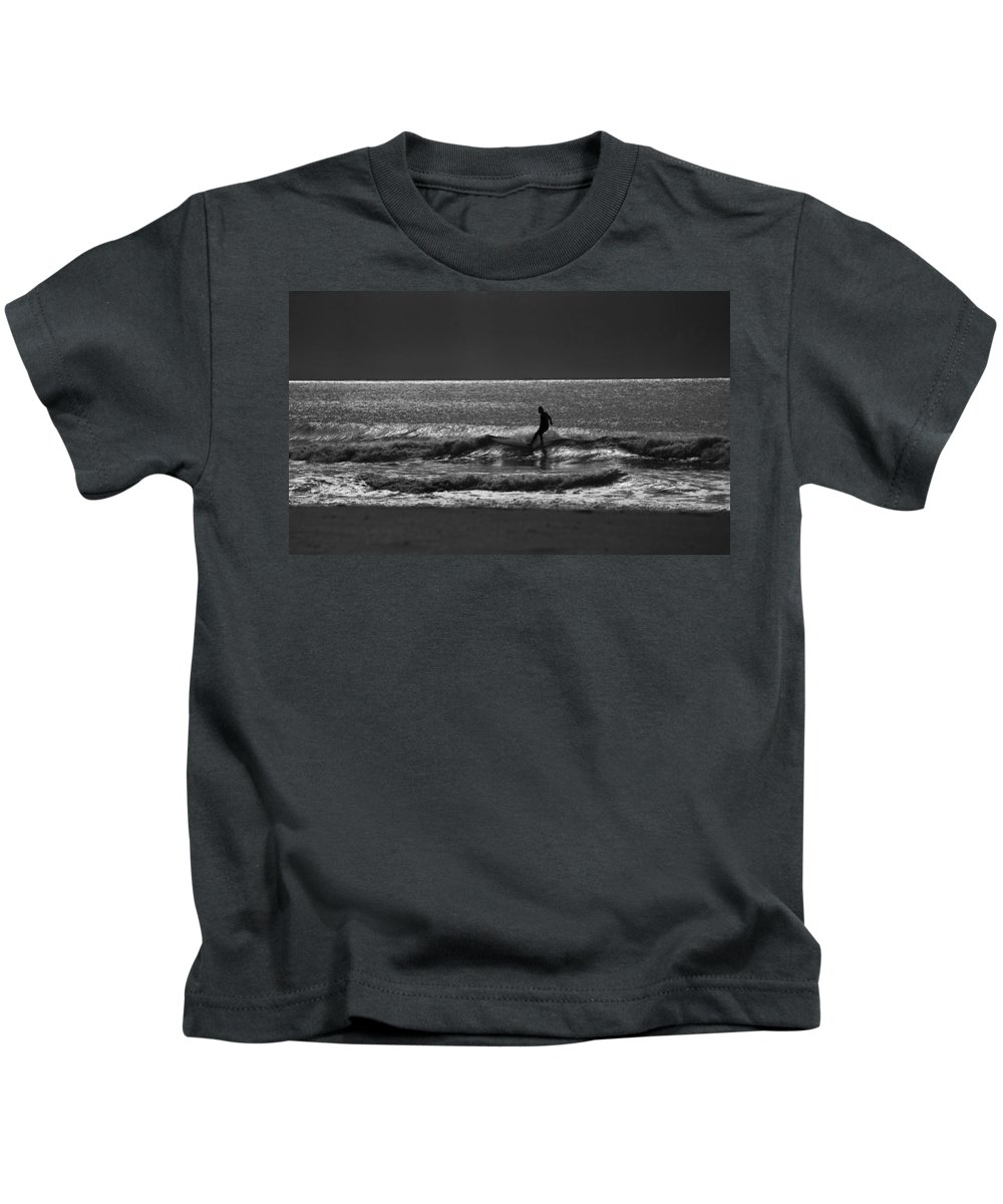 Surfer Kids T-Shirt featuring the photograph Morning Surfer by Sheila Smart Fine Art Photography