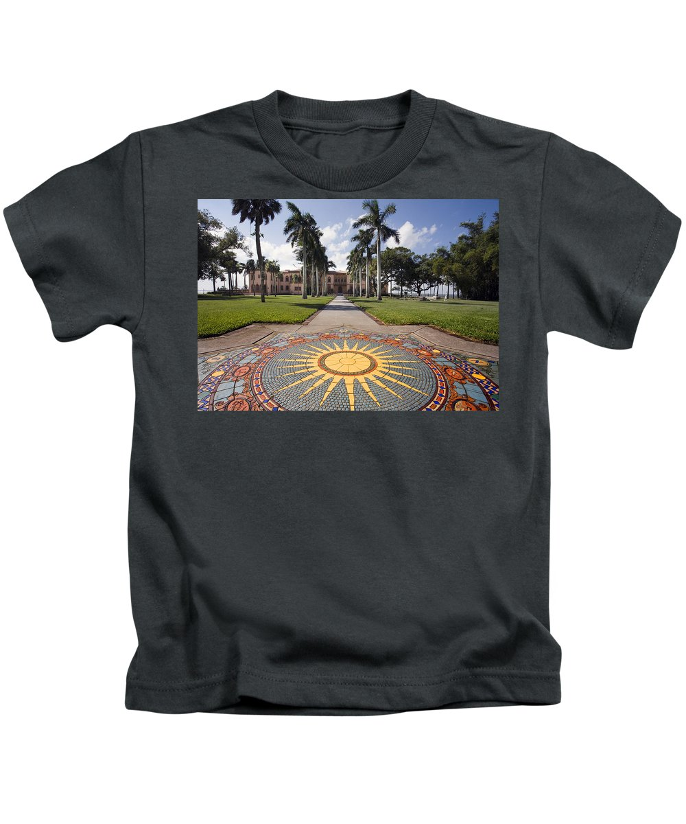 Mosaic Kids T-Shirt featuring the photograph Mosaic At The Ca D by Mal Bray