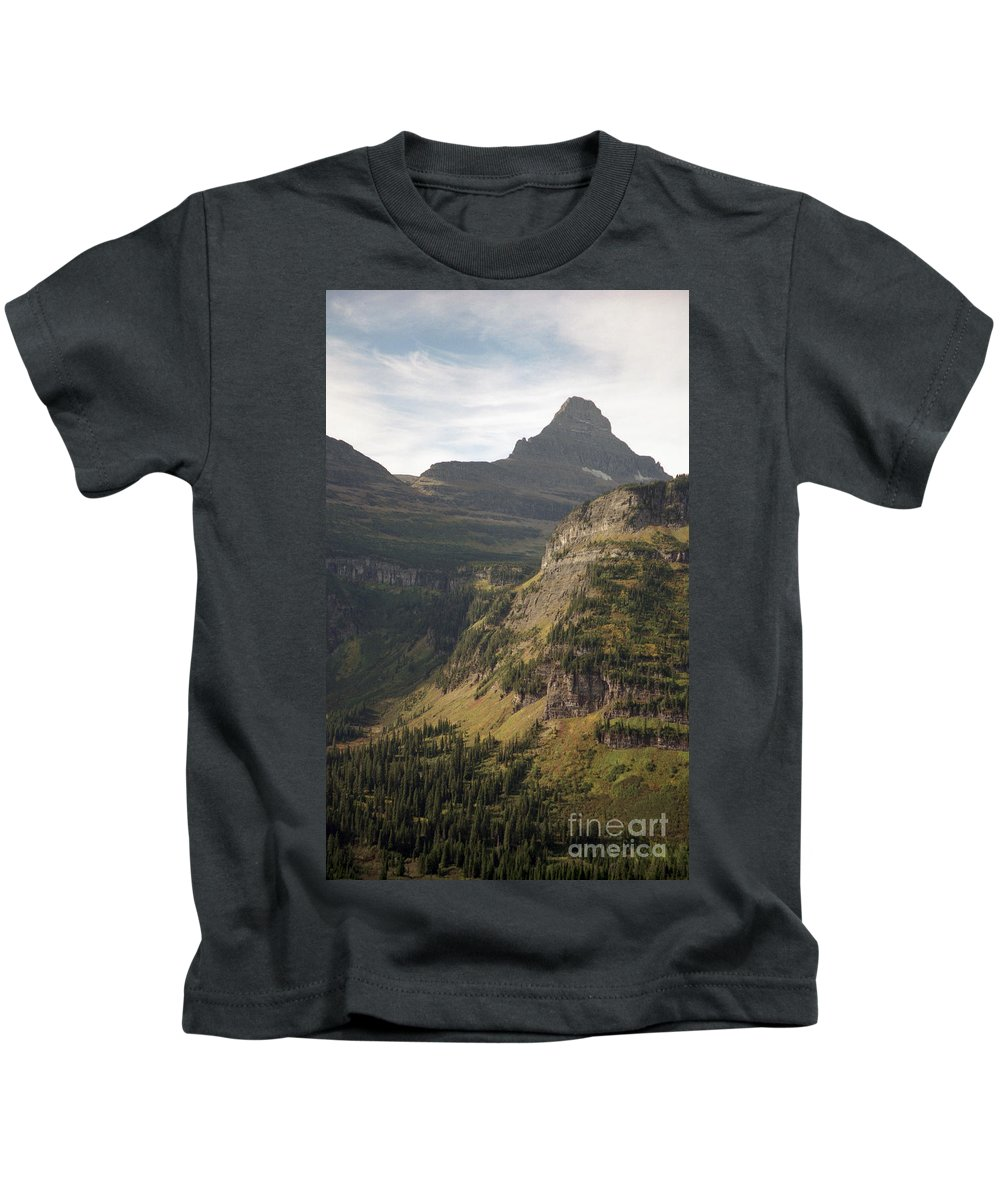 Glacier Kids T-Shirt featuring the photograph Mountain Glacier by Richard Rizzo