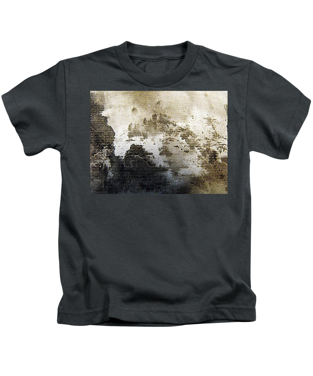 Abstract Ink Painting Kids T-Shirt featuring the painting Mountain Mists by Nancy Kane Chapman