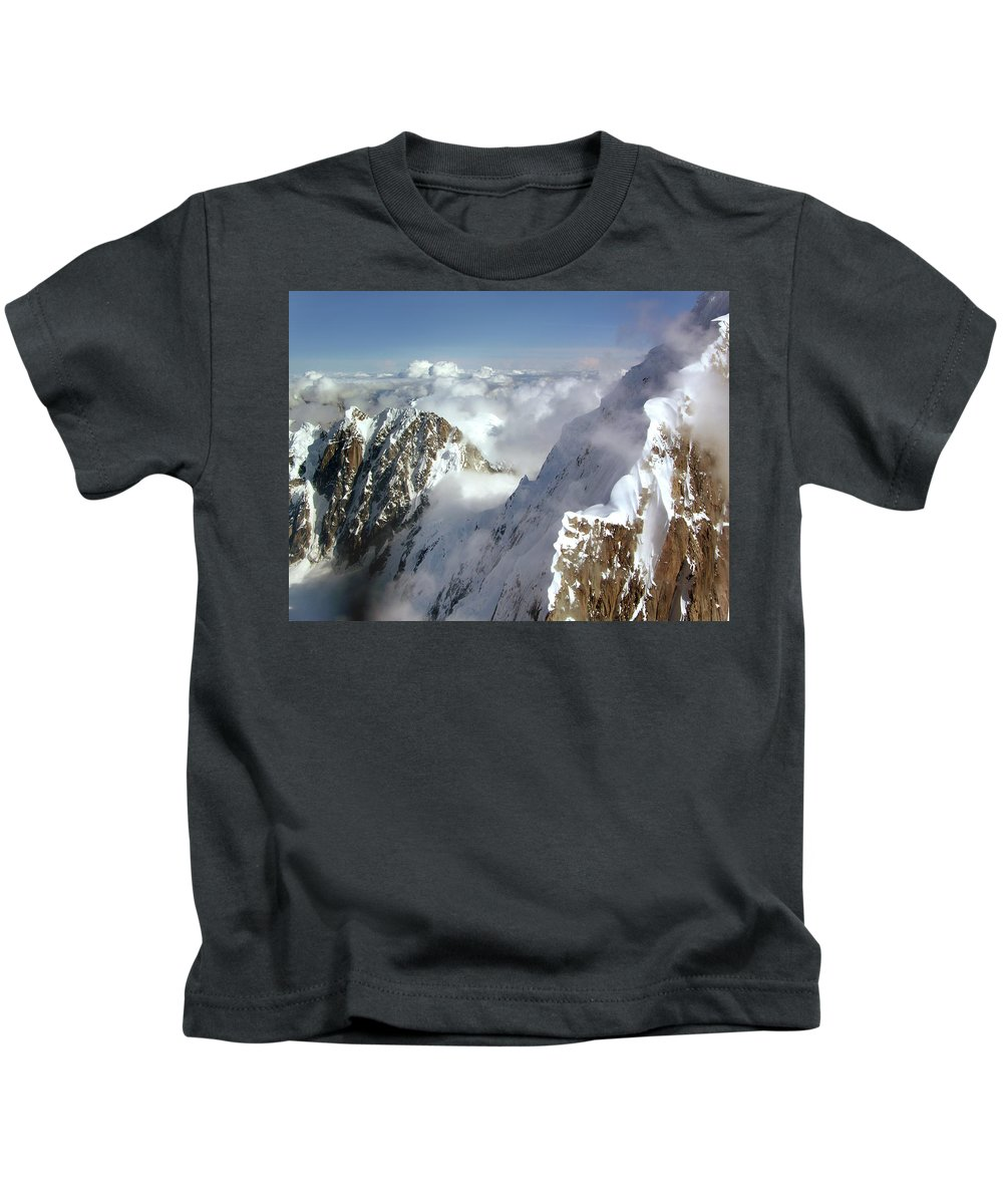 Denali Kids T-Shirt featuring the photograph Mountain's Edge by Timothy Manning