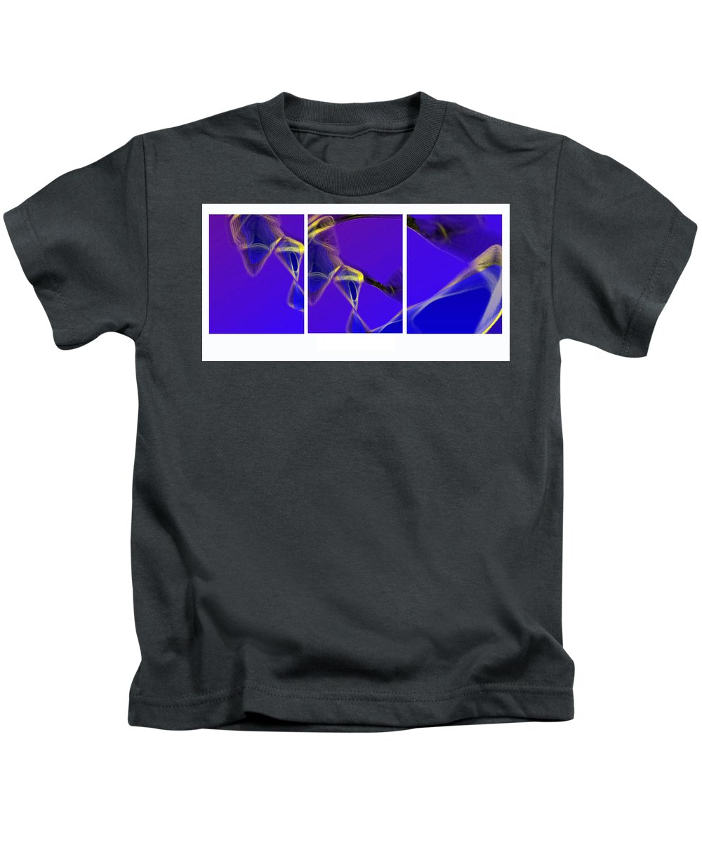 Abstract Kids T-Shirt featuring the digital art Movement In Blue by Steve Karol
