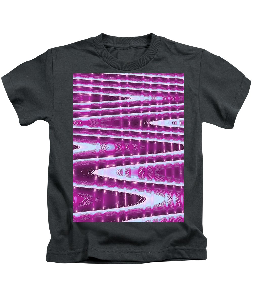 Moveonart! Digital Gallery Kids T-Shirt featuring the digital art Moveonart Abstract Waves And Light One by Jacob Kanduch