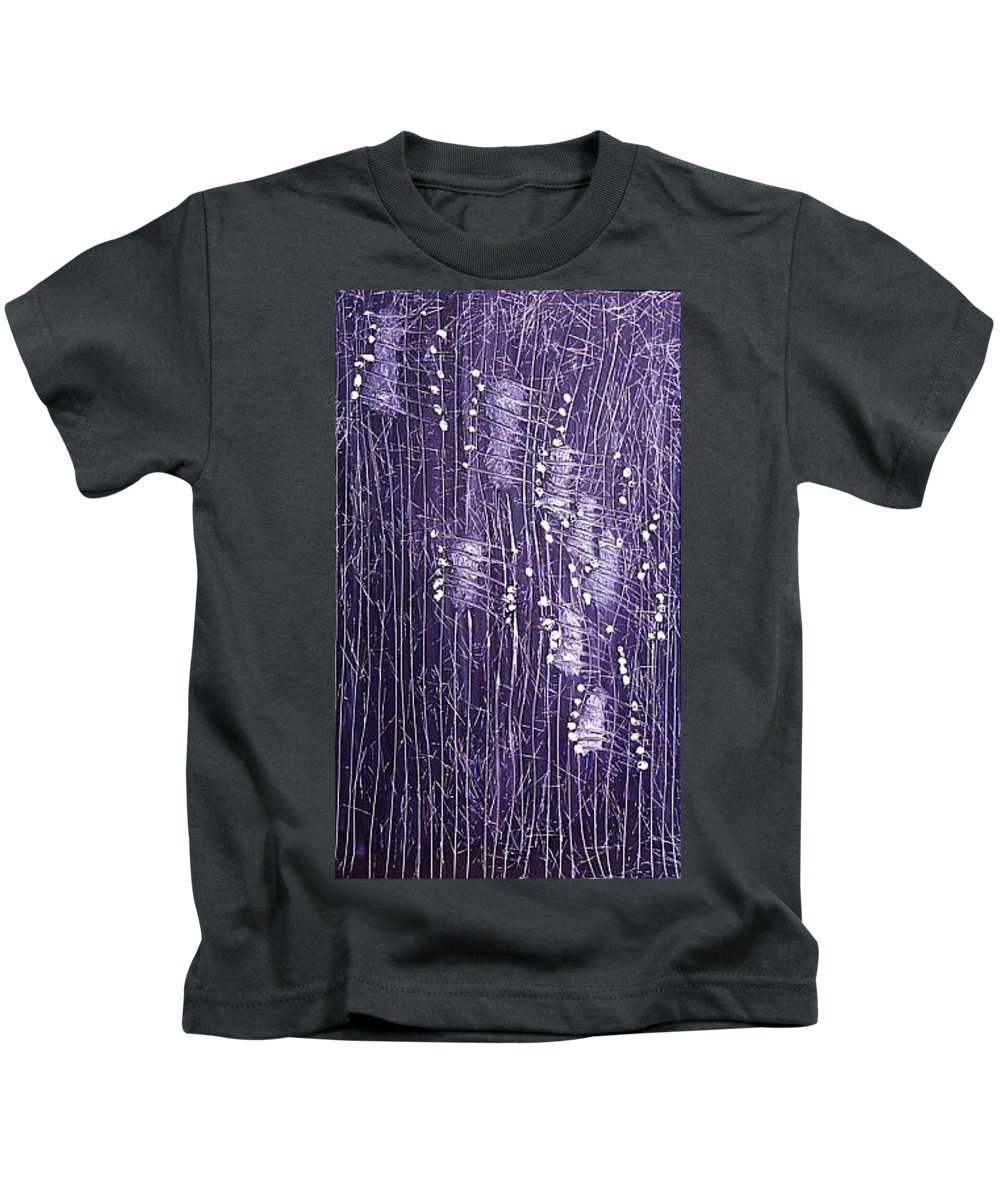 Moveonart! Digital Gallery Kids T-Shirt featuring the painting Moveonart Days Of Yore by Jacob Kanduch