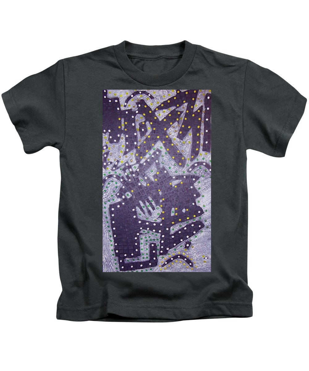 Moveonart! Digital Gallery Kids T-Shirt featuring the painting Moveonart Ex Communicated by Jacob Kanduch