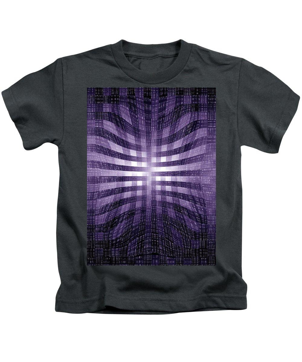 Moveonart! Global Gathering. Jacob Kanduch. Kids T-Shirt featuring the digital art Moveonart Existence by Jacob Kanduch