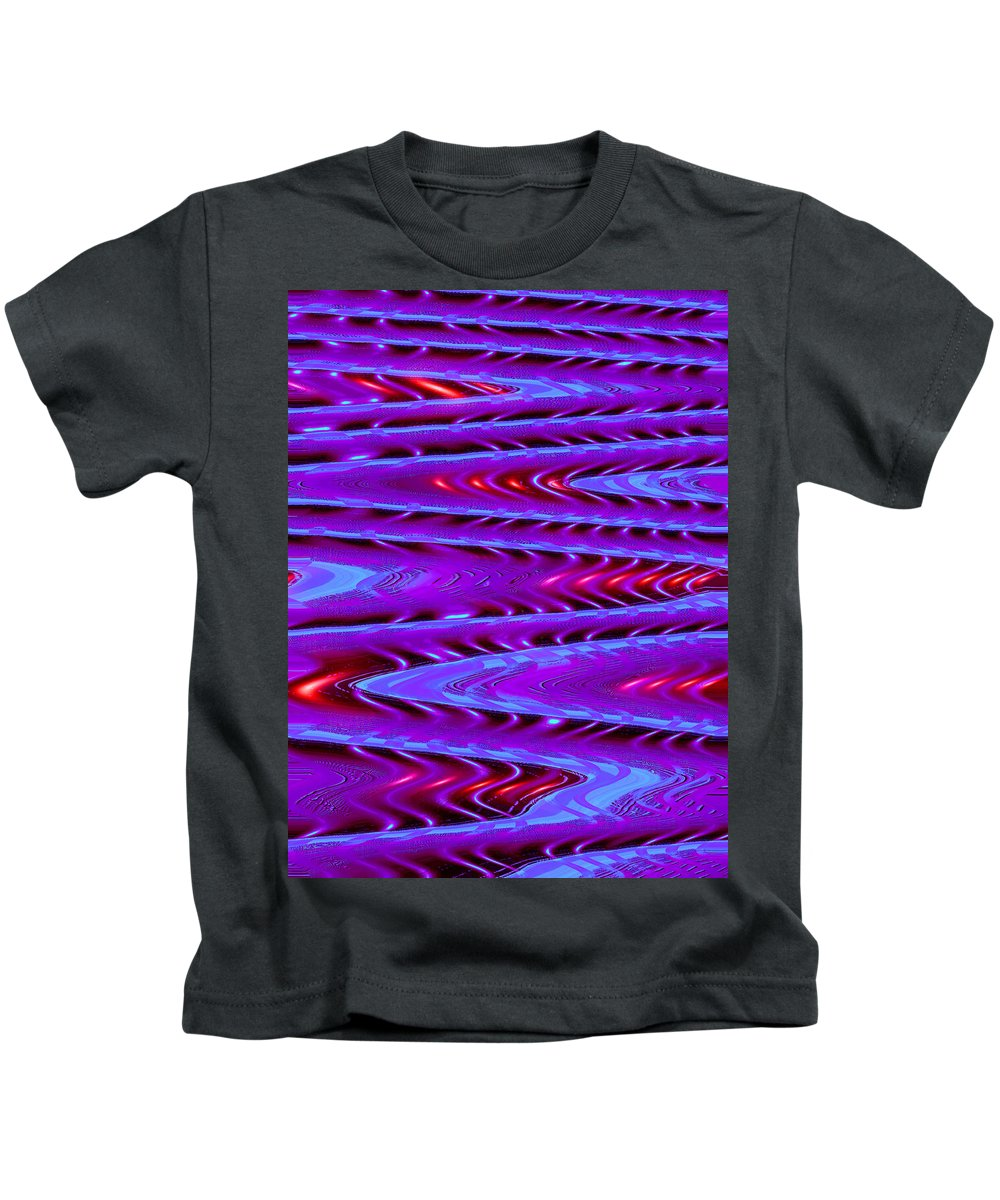 Moveonart! Digital Gallery Kids T-Shirt featuring the digital art Moveonart Future Texture Now One by Jacob Kanduch