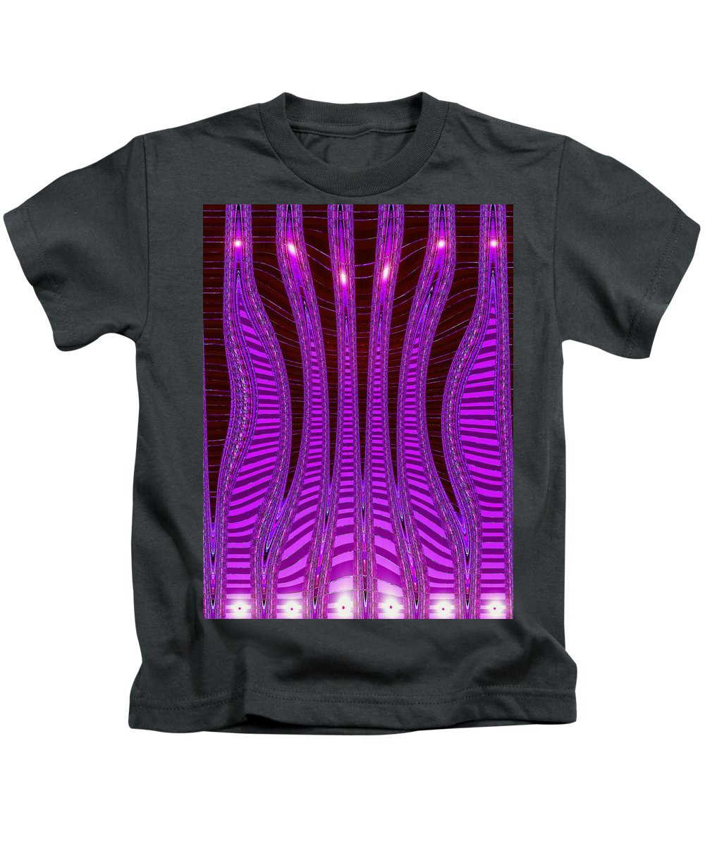 Moveonart! Digital Gallery Kids T-Shirt featuring the digital art Moveonart Future Texture Now Two by Jacob Kanduch