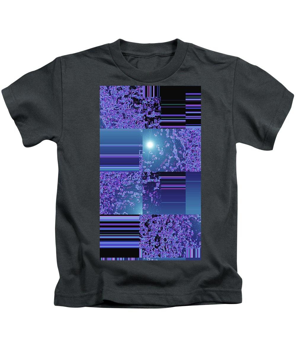 Moveonart! Digital Gallery Kids T-Shirt featuring the digital art Moveonart Inter Dimensional Shift One by Jacob Kanduch