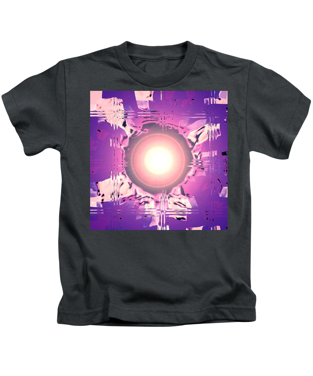 Moveonart! Digital Gallery Kids T-Shirt featuring the digital art Moveonart Oh Is That So  Violet by Jacob Kanduch