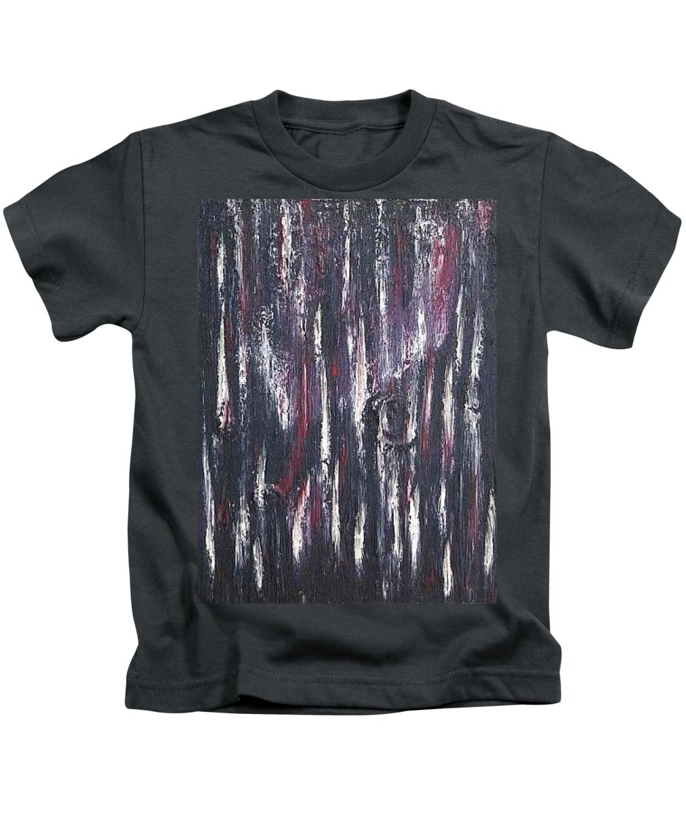 M Kids T-Shirt featuring the painting Moveonart Protecting My Thoughts by Jacob Kanduch