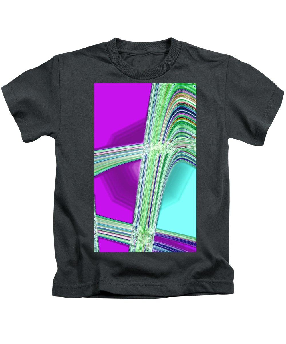 Moveonart! Digital Gallery Kids T-Shirt featuring the digital art Moveonart Provide Us With Waves Amen by Jacob Kanduch
