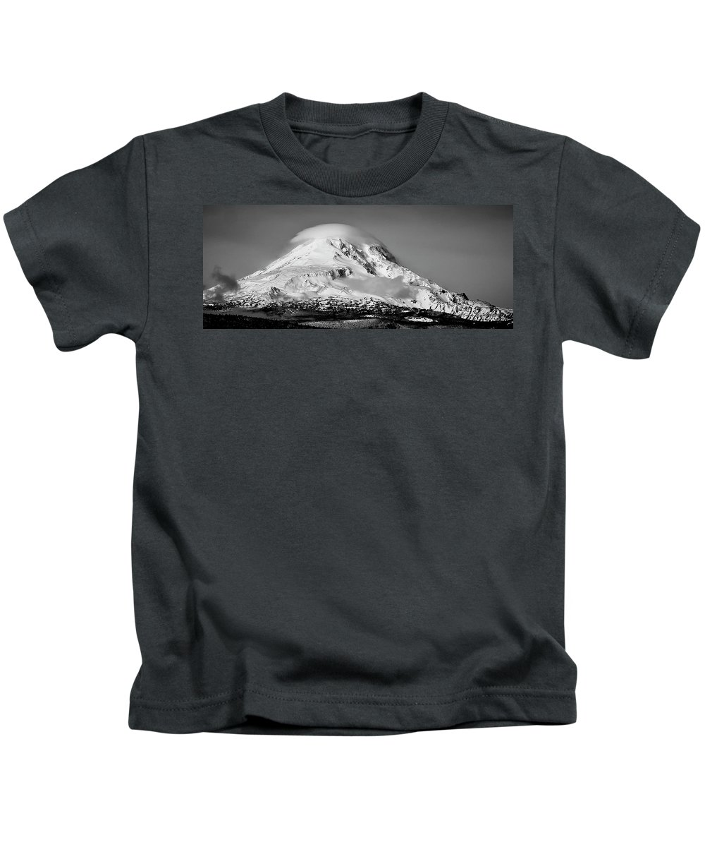 Washington Kids T-Shirt featuring the photograph Mt Adams by Albert Seger