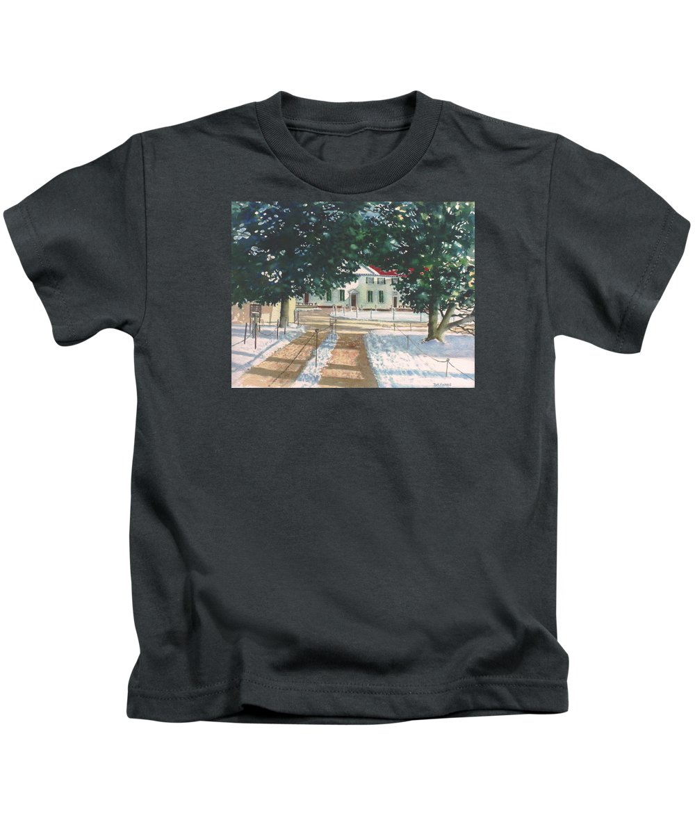 Landscape Kids T-Shirt featuring the painting Mt. Vernon After The Visitors Have All Gone Home by Tom Harris