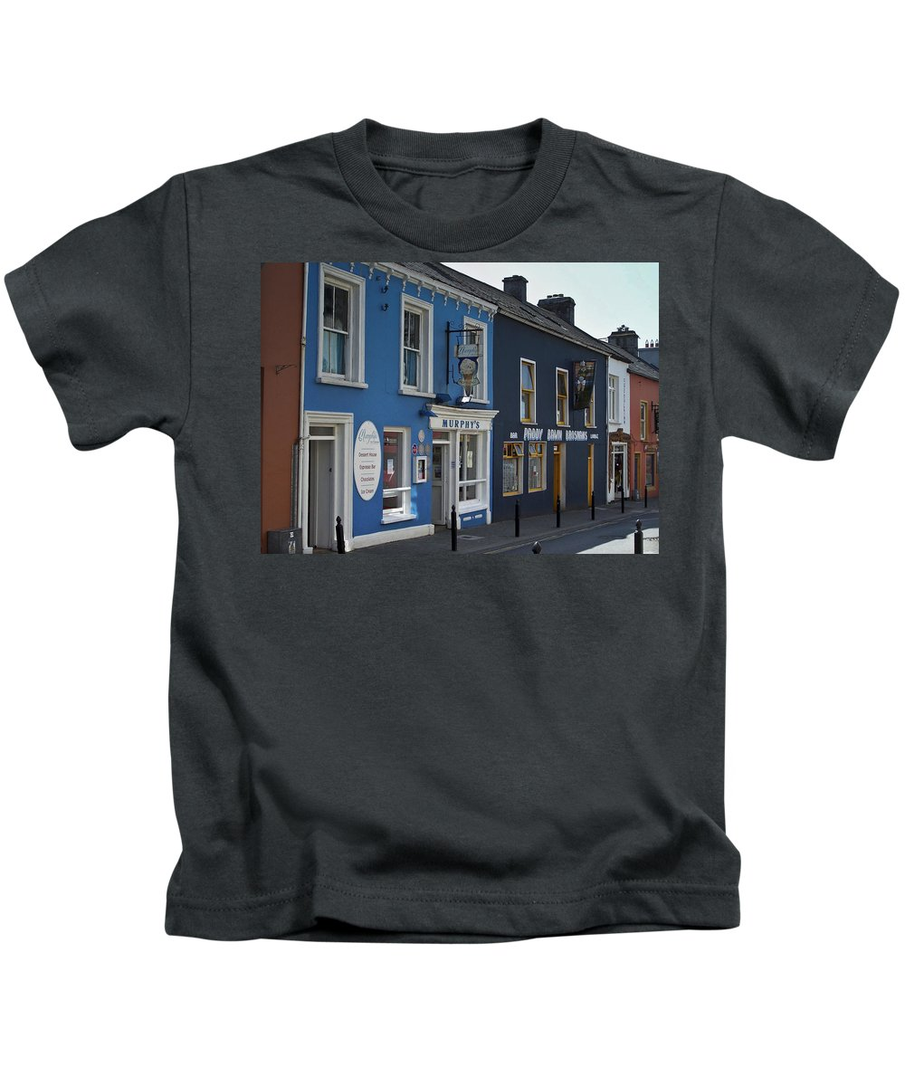 Irish Kids T-Shirt featuring the photograph Murphys Ice Cream Dingle Ireland by Teresa Mucha