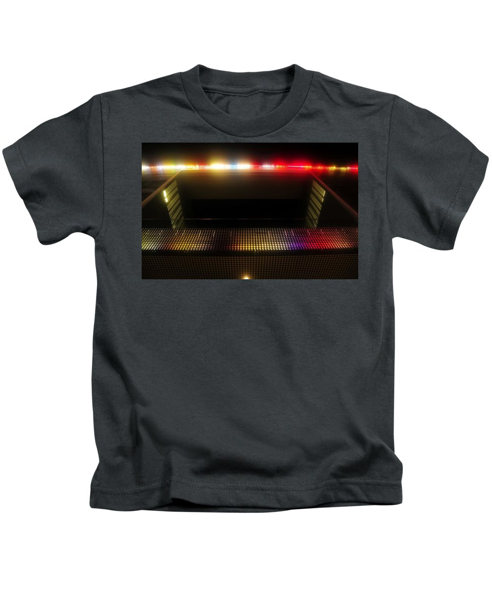 Tampa Museum Of Art Kids T-Shirt featuring the photograph Museum Lights by David Lee Thompson