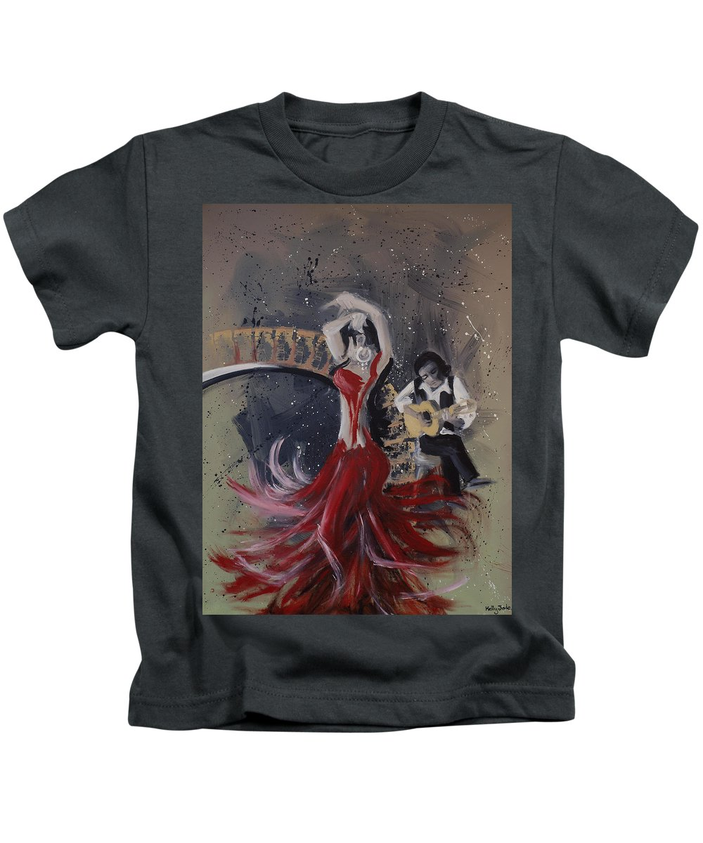 Dance Kids T-Shirt featuring the painting Musica Espaniol by Kelly Jade King