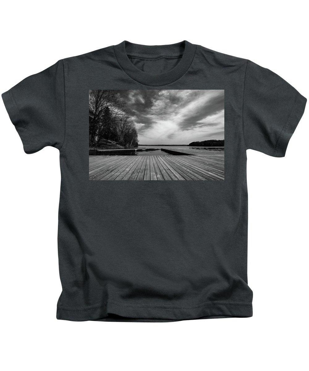 North America Kids T-Shirt featuring the photograph Muskoka Wood by David Finlayson