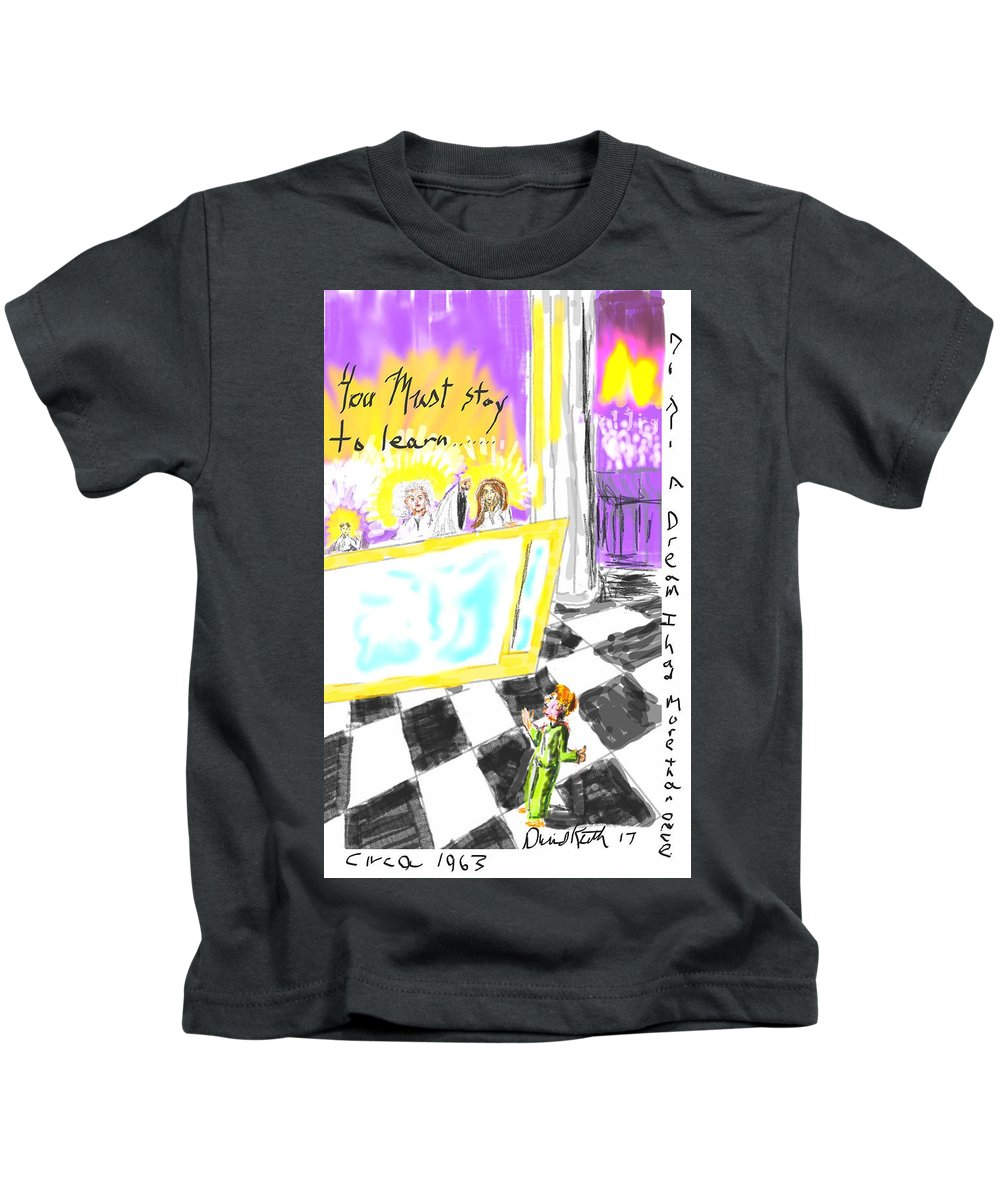 Heavenly Bodies Hosts Council Dream Visitation Kids T-Shirt featuring the digital art Must I Stay? by David R Keith