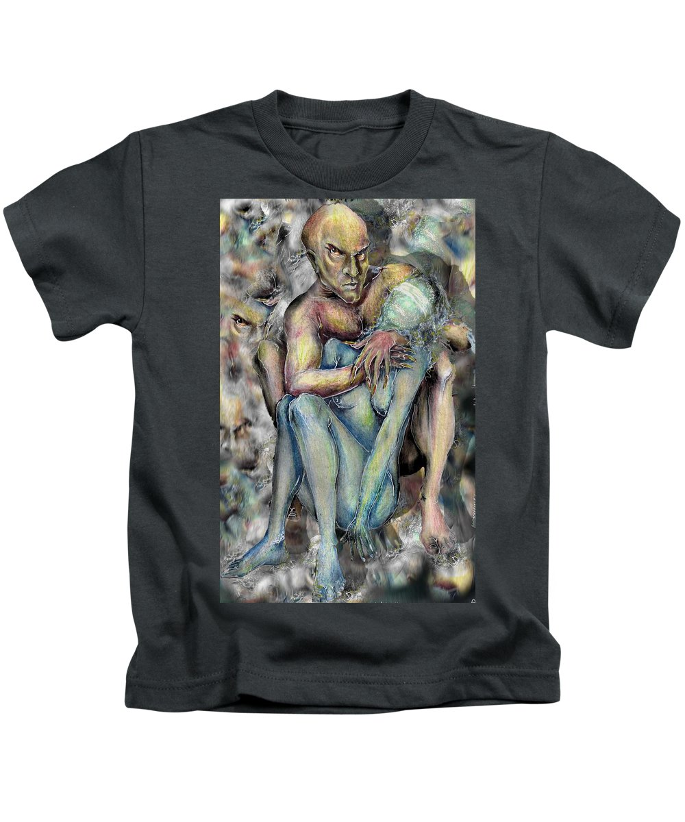 Demons Love Passion Control Posession Woman Lust Kids T-Shirt featuring the mixed media My Precious by Veronica Jackson