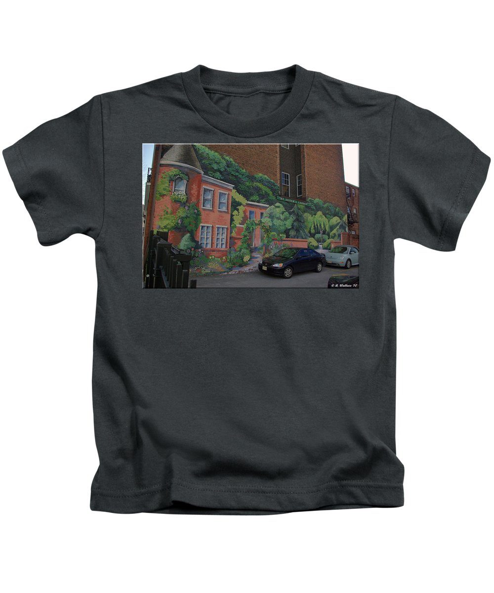 2d Kids T-Shirt featuring the photograph My Sisters Garden by Brian Wallace