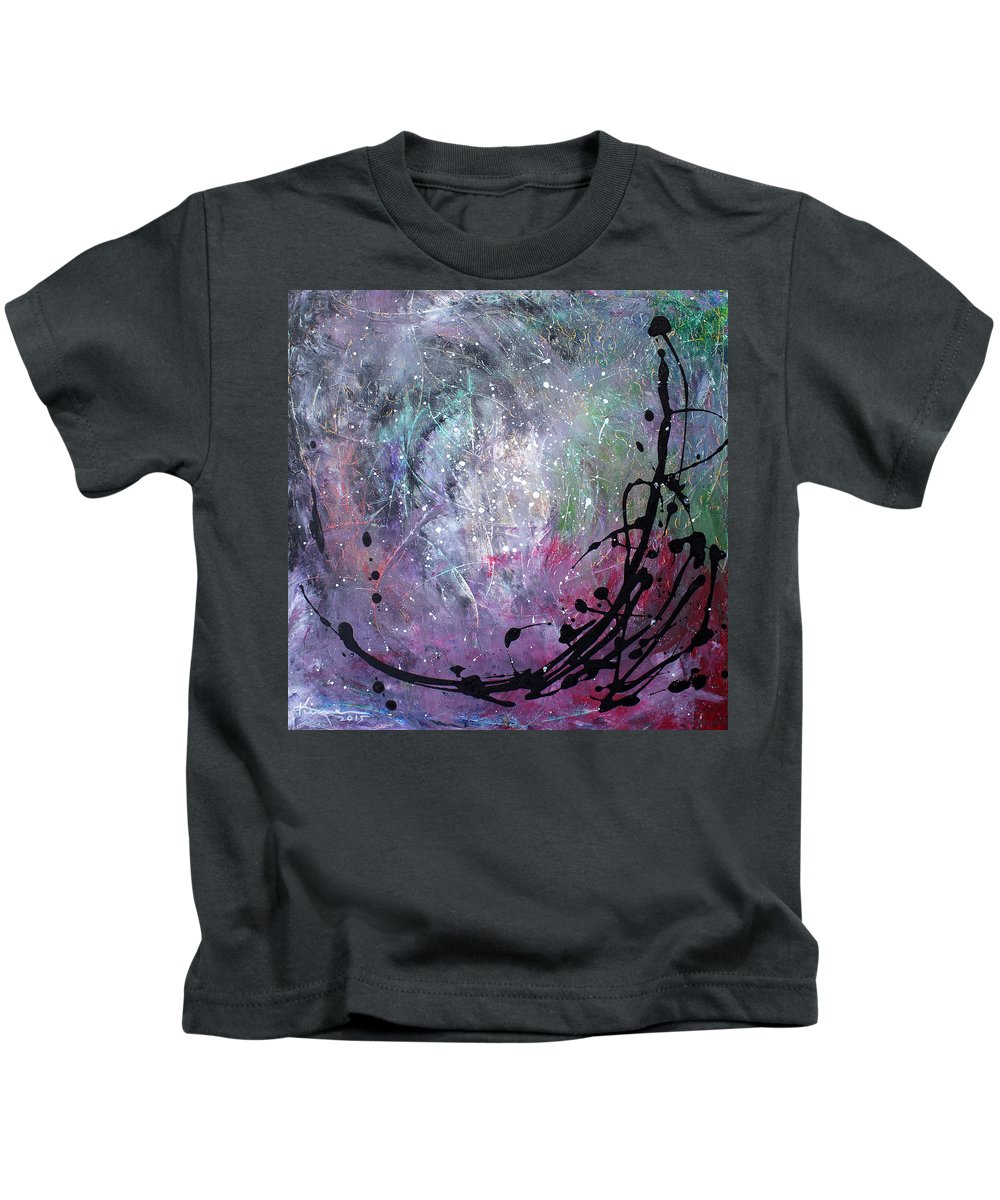 Art Deco Kids T-Shirt featuring the painting My Someday Soon by Kume Bryant