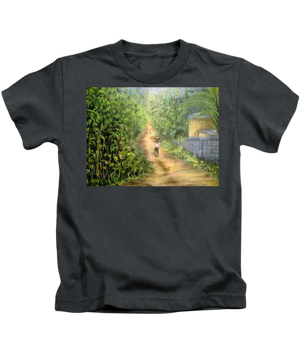 Culture Kids T-Shirt featuring the painting My Village by Olaoluwa Smith