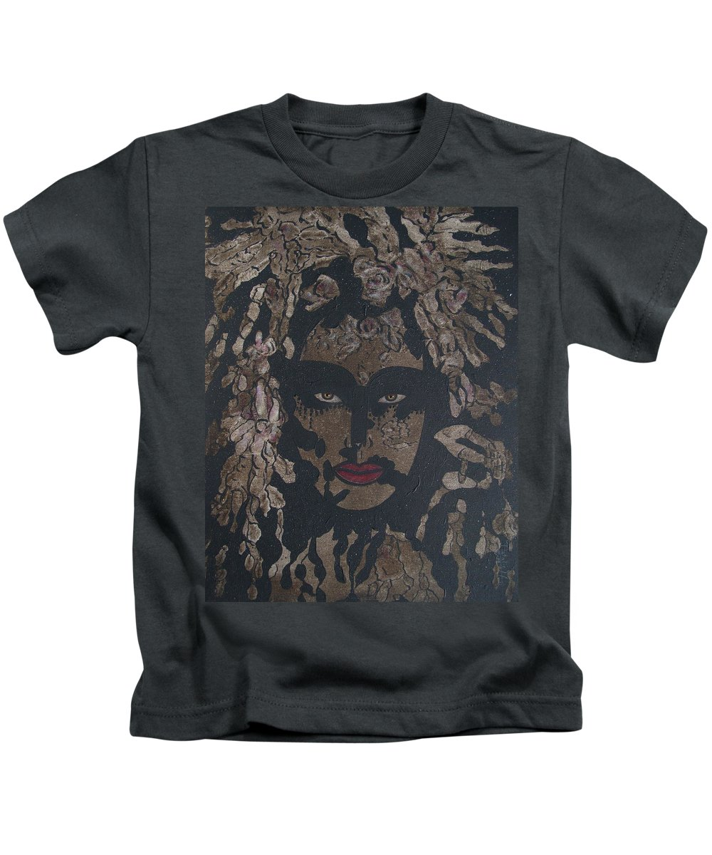 Figurative Kids T-Shirt featuring the painting Mysterious Desire by Natalie Holland