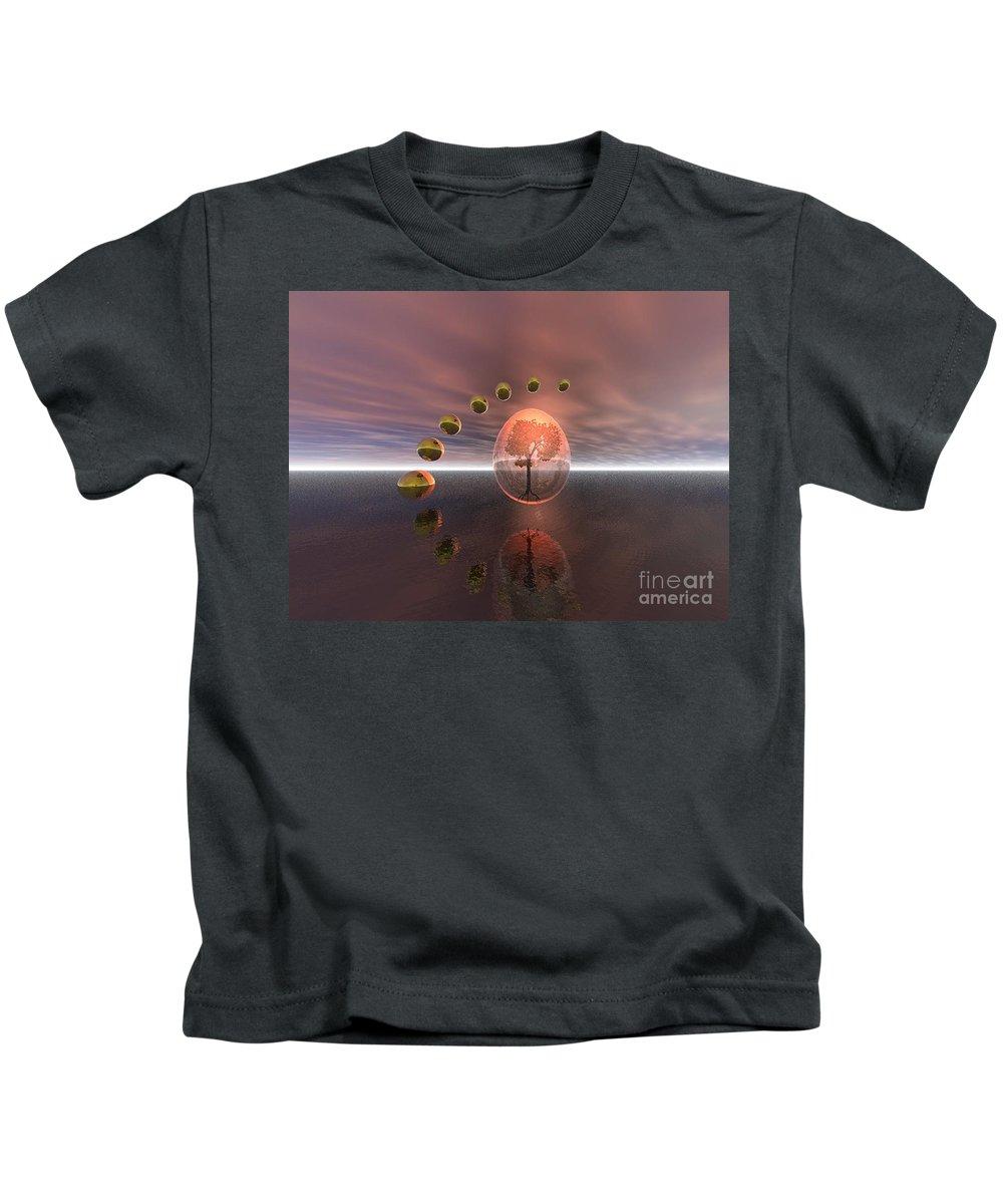 Mystical Kids T-Shirt featuring the digital art Mystical Surrealism by Oscar Basurto Carbonell