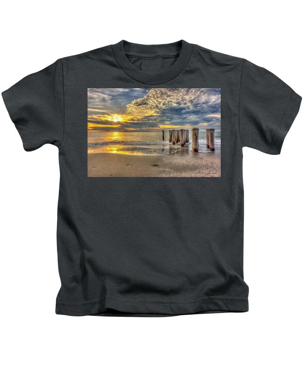 Naples Kids T-Shirt featuring the photograph Naples Florida Sunset by Stan Dzugan