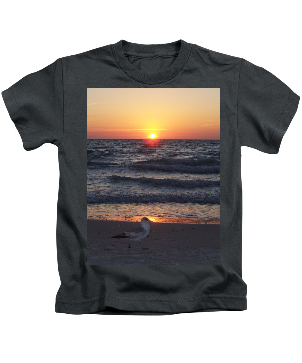 Naples Kids T-Shirt featuring the photograph Naples Sunset 0042 by Laurie Paci
