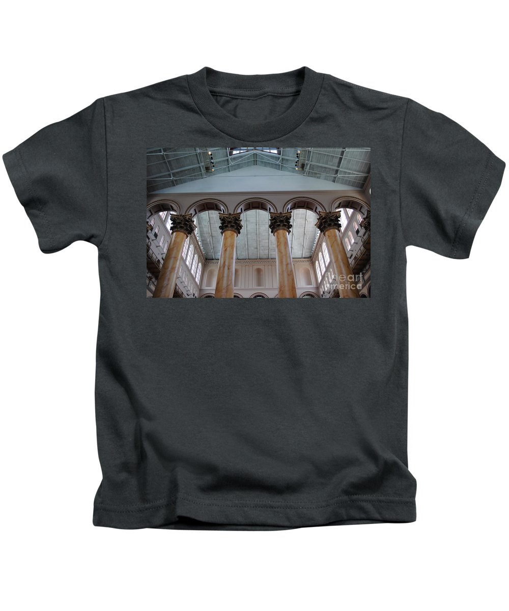 National Kids T-Shirt featuring the photograph National Columns by Jost Houk