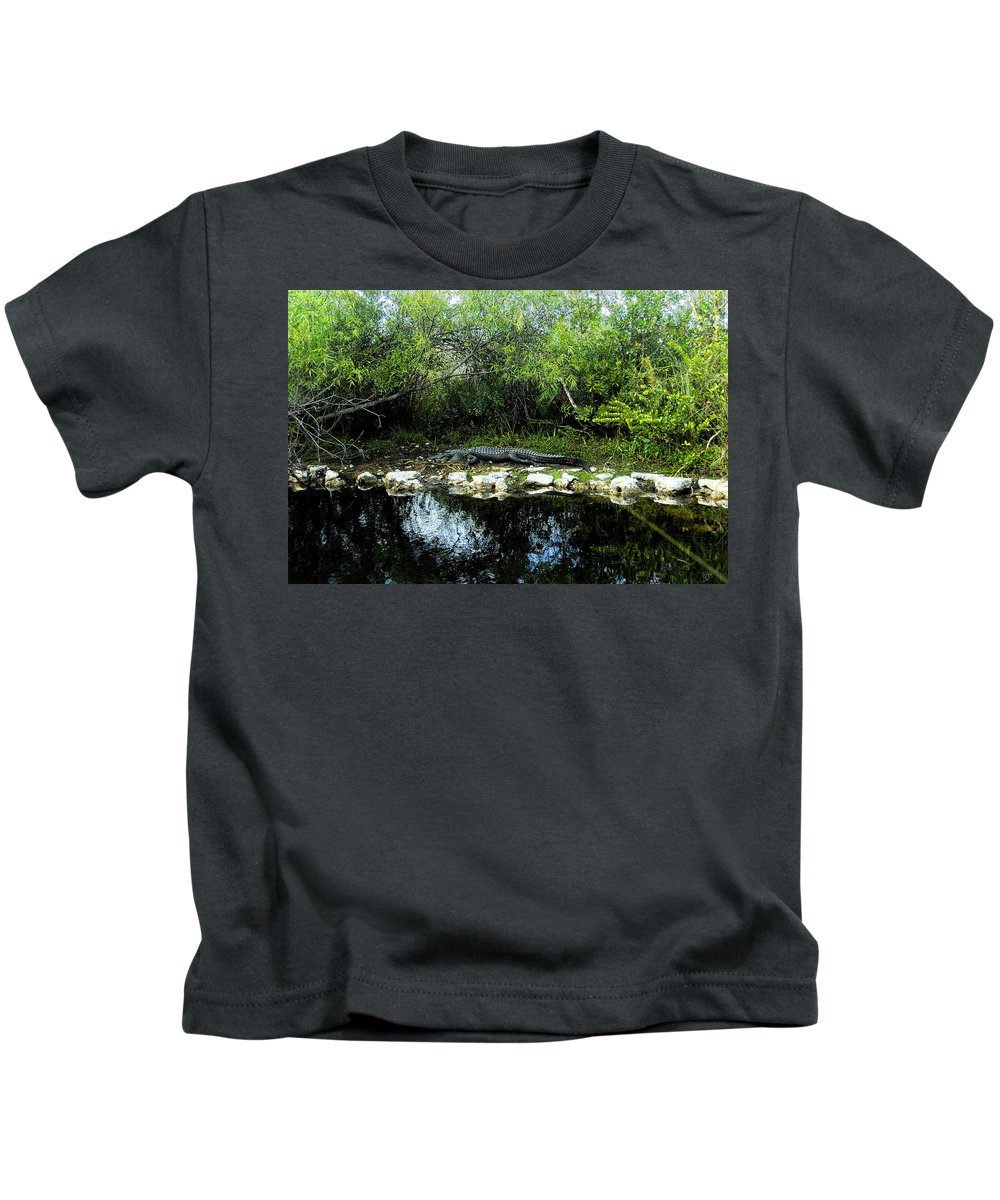 Art Kids T-Shirt featuring the painting Native Floridian by David Lee Thompson