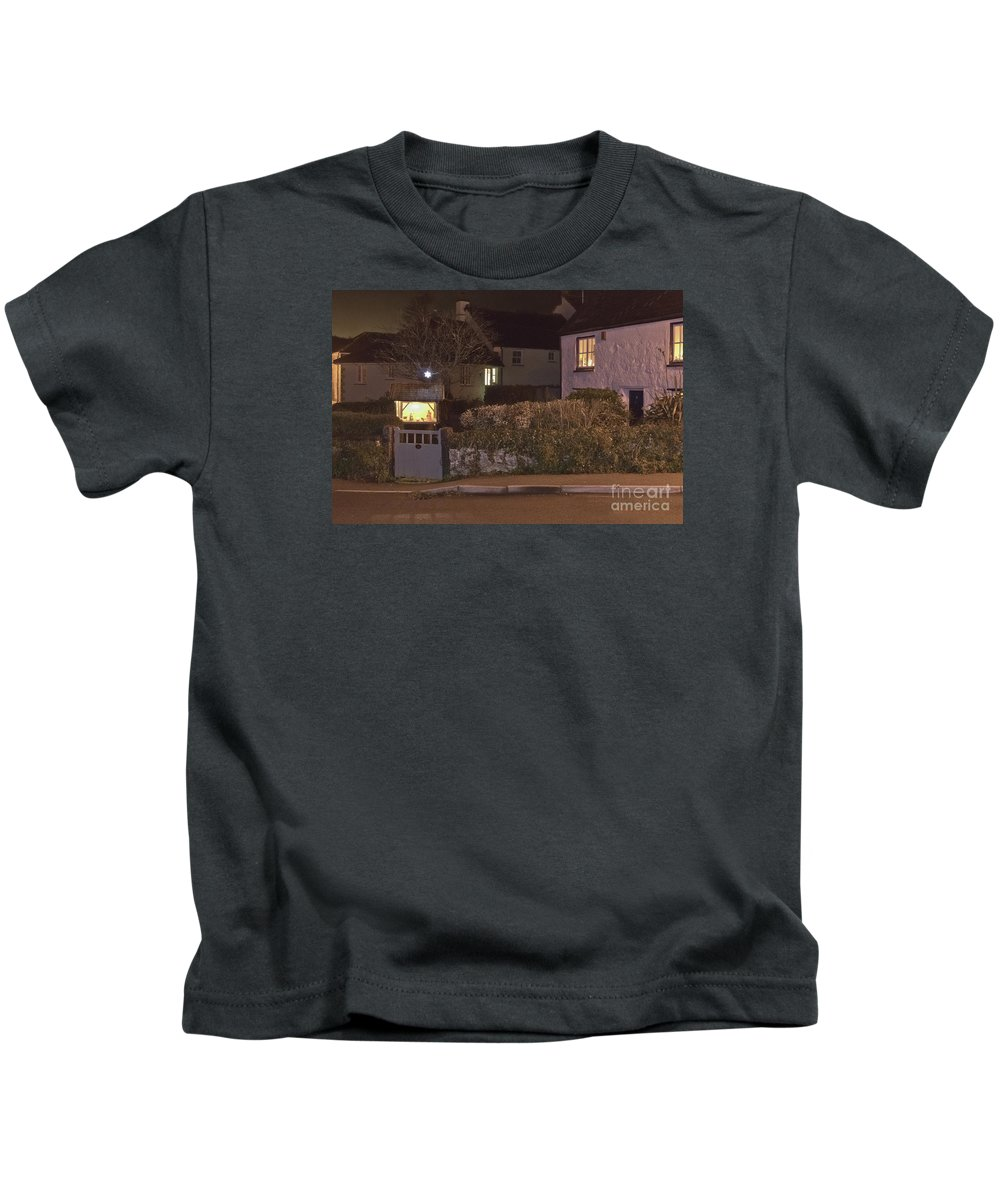 Jesus Kids T-Shirt featuring the photograph Nativity In A Mylor Bridge Garden by Terri Waters