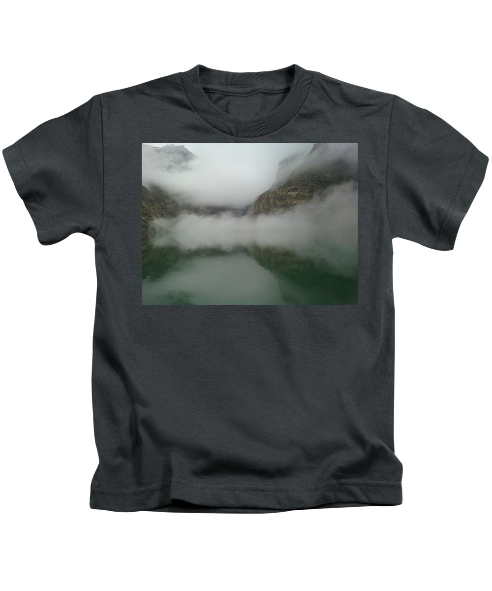 Lake Covered By Clouds Kids T-Shirt featuring the photograph Nature by Aqeel Afzal