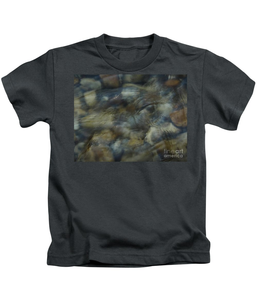 Rocks And Pebbles Kids T-Shirt featuring the photograph Natures Watching You by Johnnie Stanfield